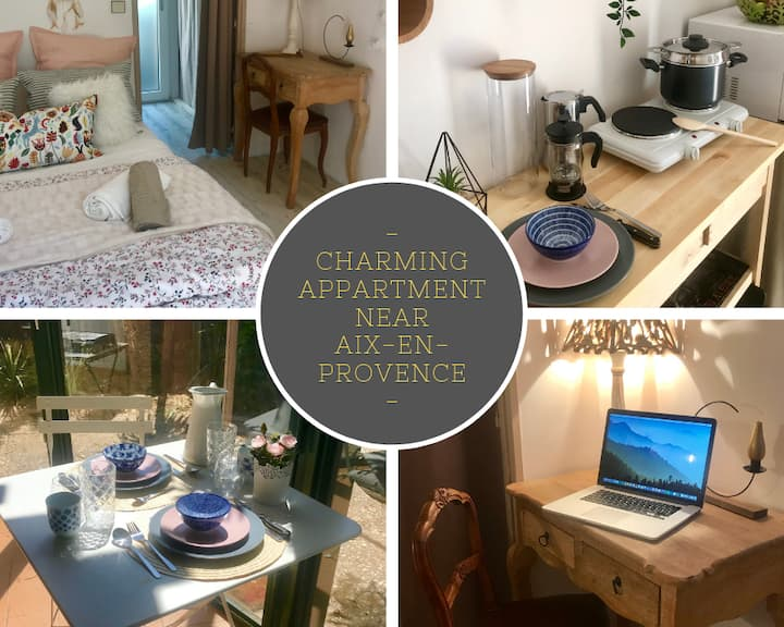 Charming  Studio to Venelles 10 minutesf rom Aix