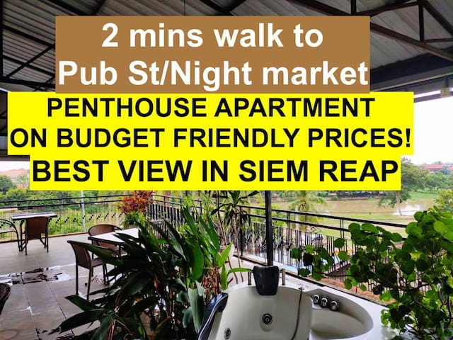 Penthouse on a budget! Pub street: 2 mins walk