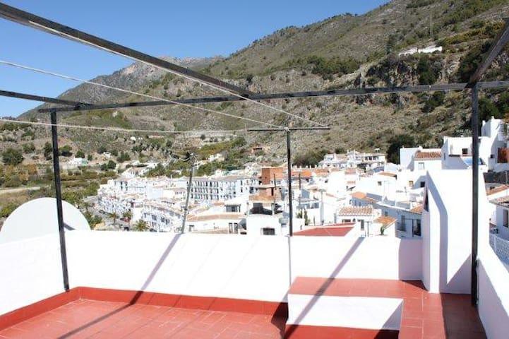 Terrace views, towards the hills
