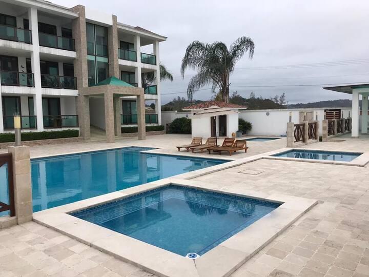 Amazing luxury apartment next to Olon beachfront!