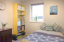 Spacious and comfortable double room - lockable for privacy. Fresh linen and towels provided