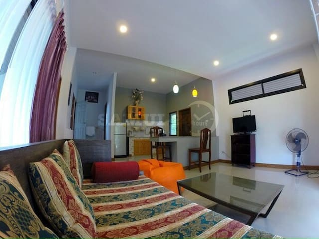 Beautiful  2 -bedroom house 100 m to the beach
