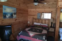 Full size bed with Log headboard