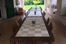 The patio of villa Augusta, to have your meals in relax