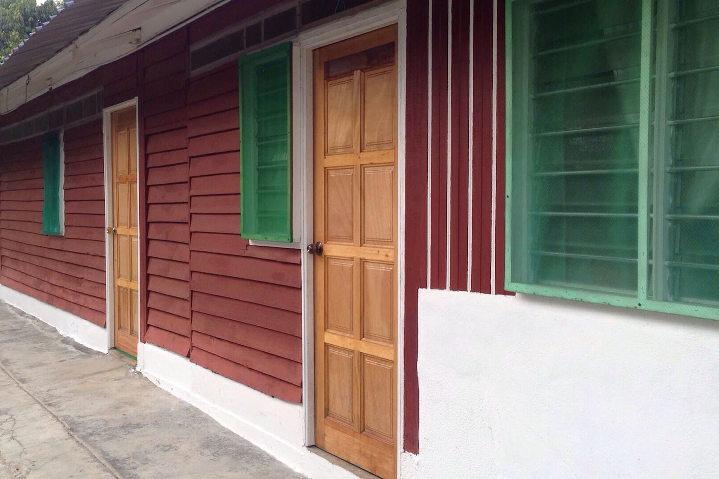 Our homestay units near farm owner's house