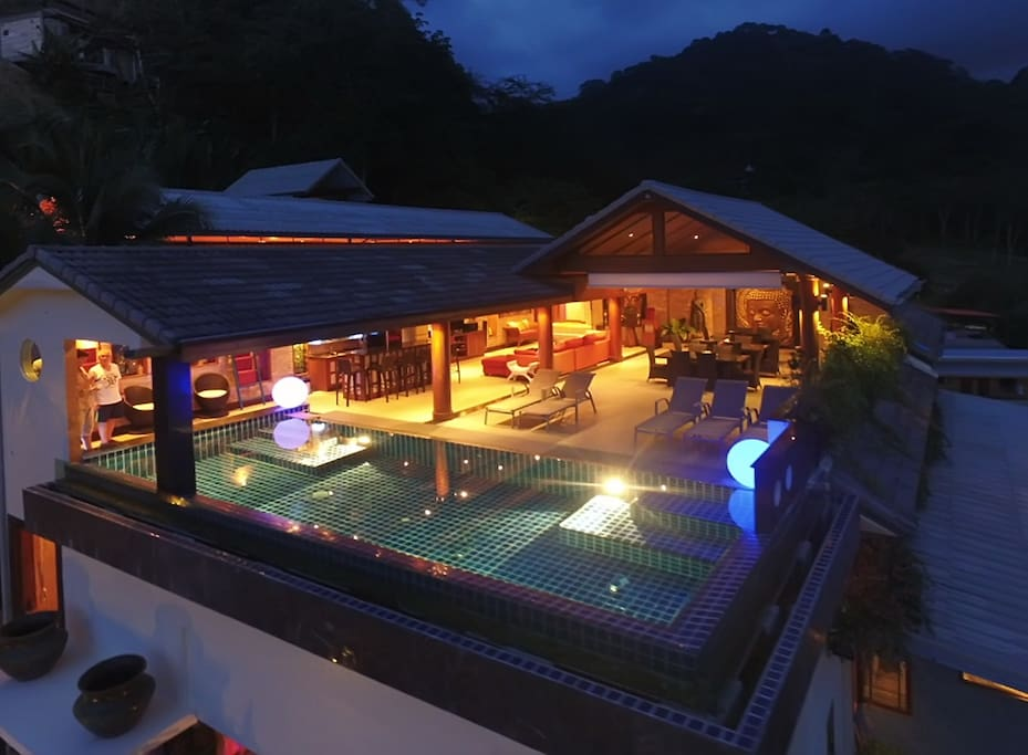 View overlooking the pool area