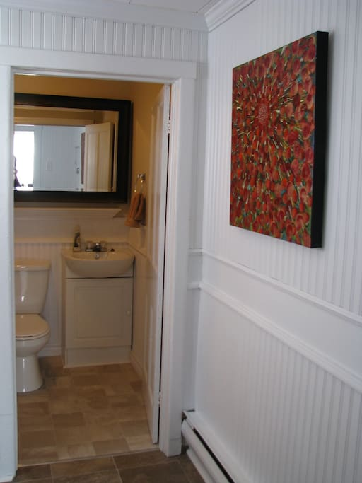 Entry Hall and lower 4 piece bathroom