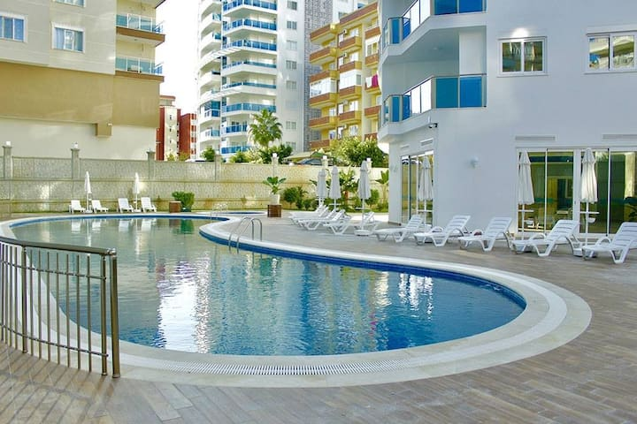 1+1 premium apartment (sw. pools, SPA, BBQ zone) - Alanya - Appartement