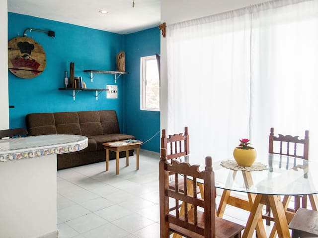 Comfortable one bedroom apartment in Pto. Morelos