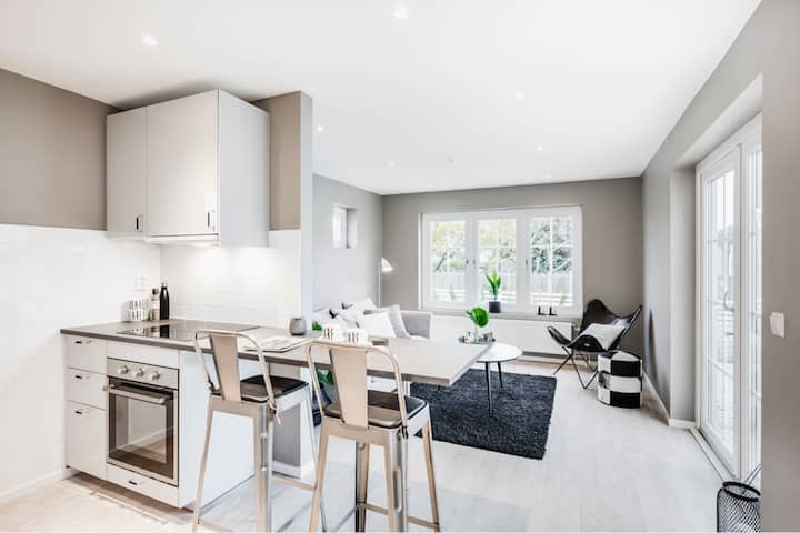 Mysigt litet fristående hus i bostadsrättsförening