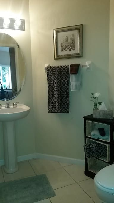 Full bath with a tub/shower combination