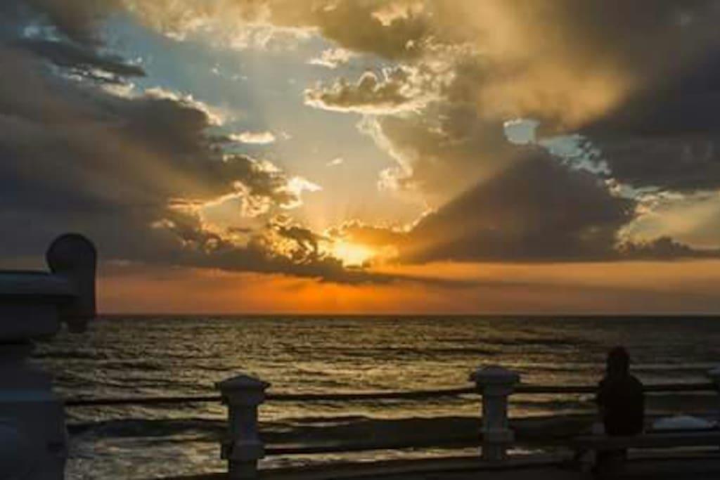 Hermosa puesta de sol de Piriápolis