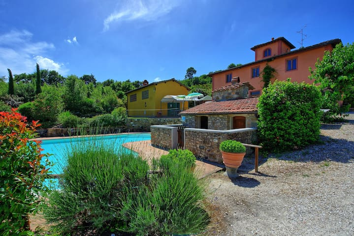 Casa Scopeti - Independent Villa with private pool, hot tub, WIFI, A/C, panoramic view, near Florence