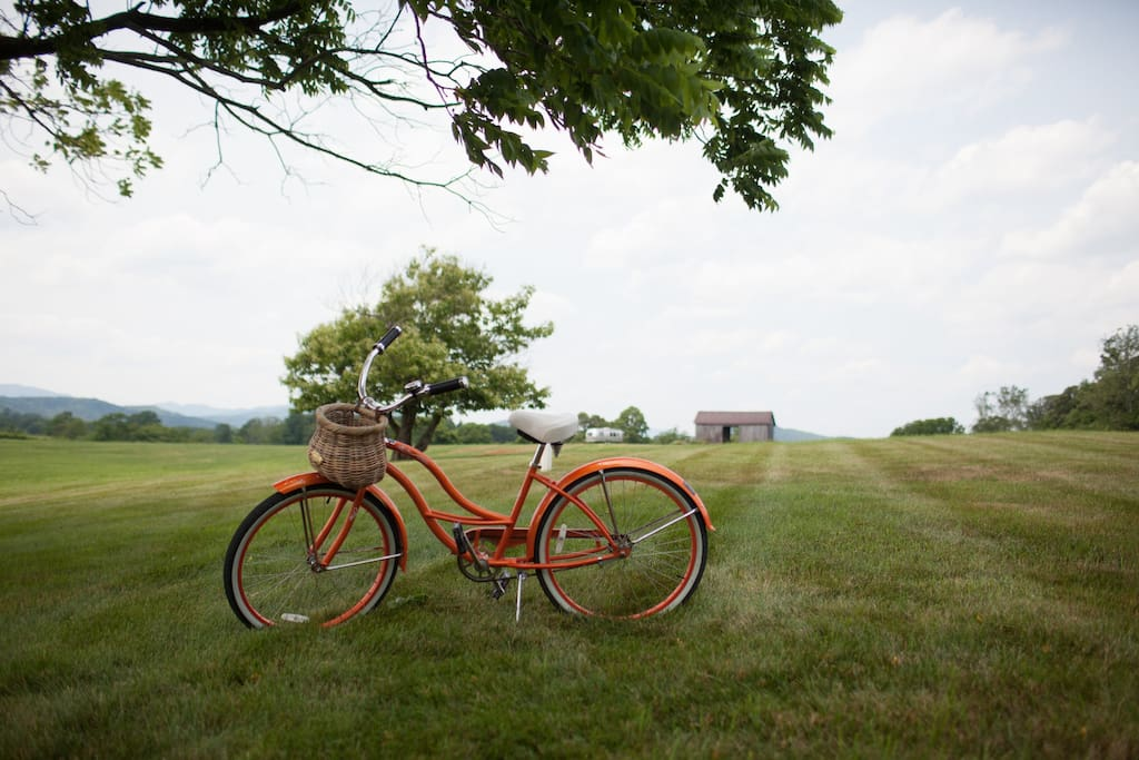 Ask us about using our bicycles to ride around the vineyard during your stay!