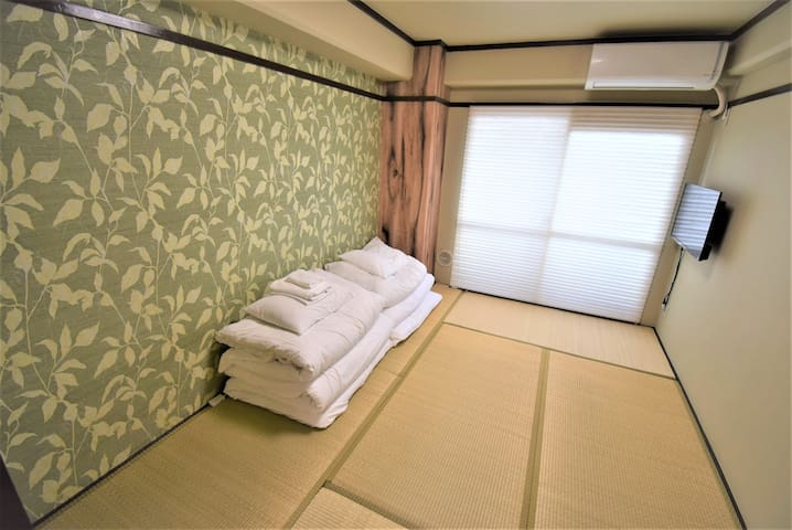 Base Hotel 402 : 5 mins Hiroshima Sta. for 3ppl