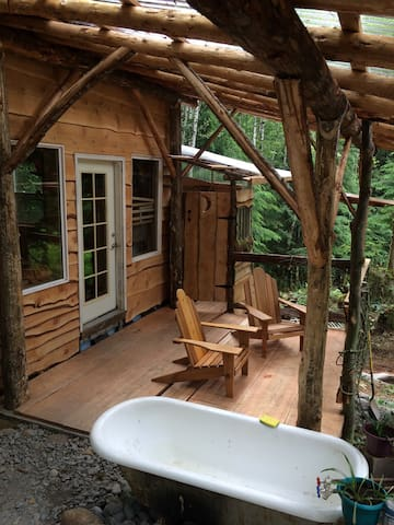 Tiny House Cabin & Bath Nestled Deep in the Woods
