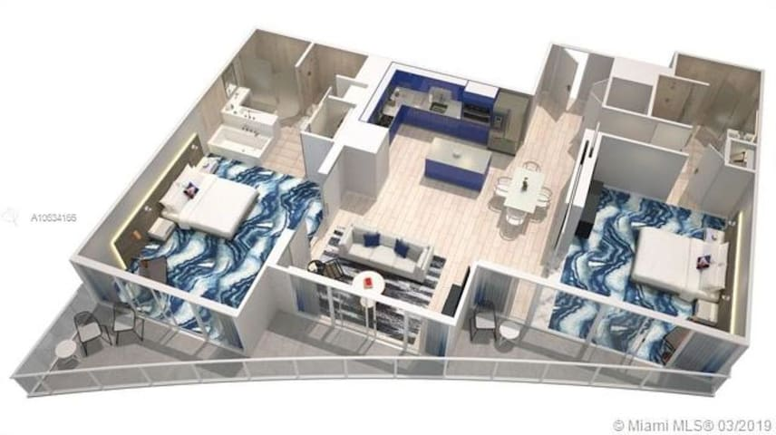 Luxe 2BR/2BA Condo @ W Fort Lauderdale Residences