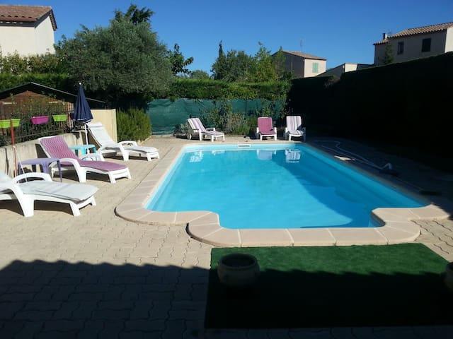 Chambre +s d'eau villa plein pieds - Caveirac - วิลล่า