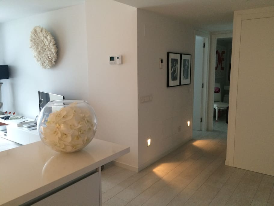 Entrace hall with CCTV  to outside main entrance, floor lighting, piped music in lounge, kitchen and bathrooms.