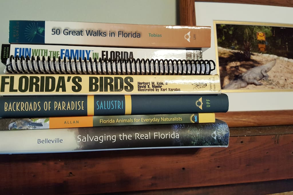 There are lots of great Florida-centric books about Walking, Day trips, Birding and Florida History