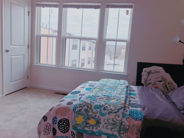 Two double bed with private bathroom!