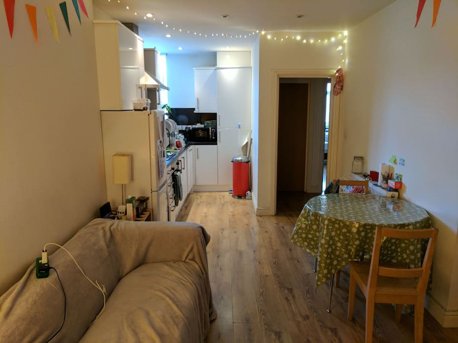 Living room/ kitchen.