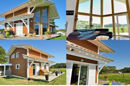 chaleureuse maison en bois , sud landes - Belus - Dom