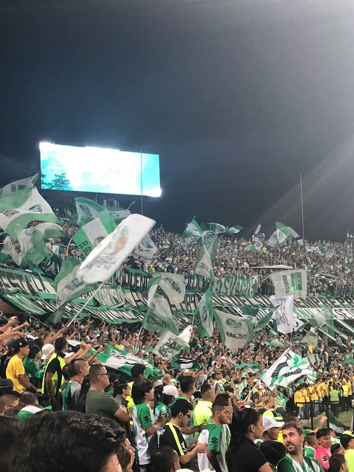 Atletico Nacional fans chanting