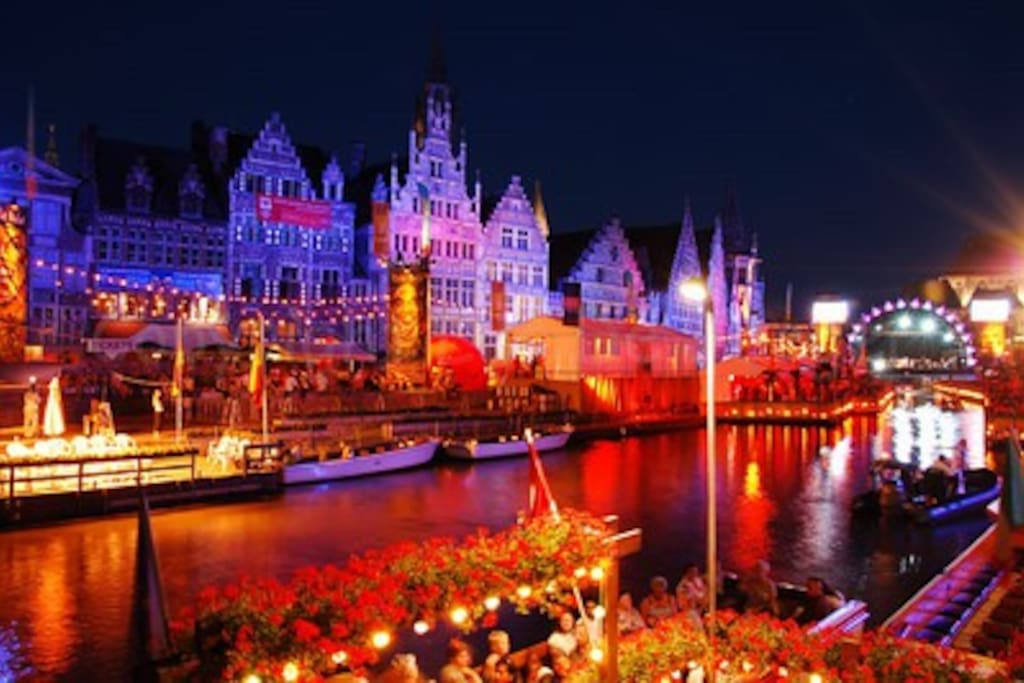 Beautiful Ghent during Gentse Feesten