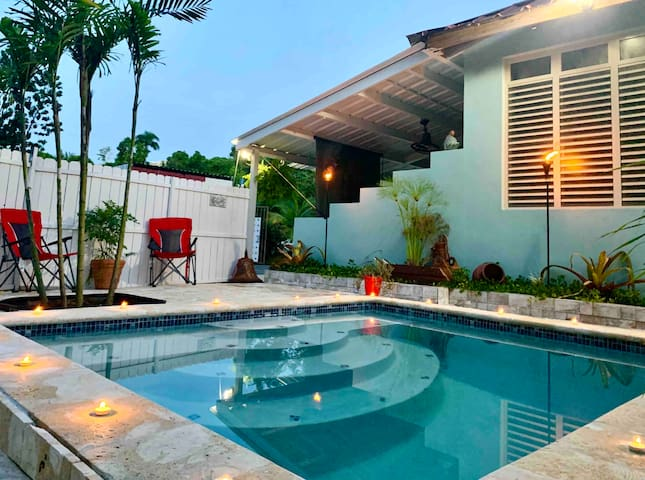 AC, Water & Electricity! Private Pool Suite + BBQ