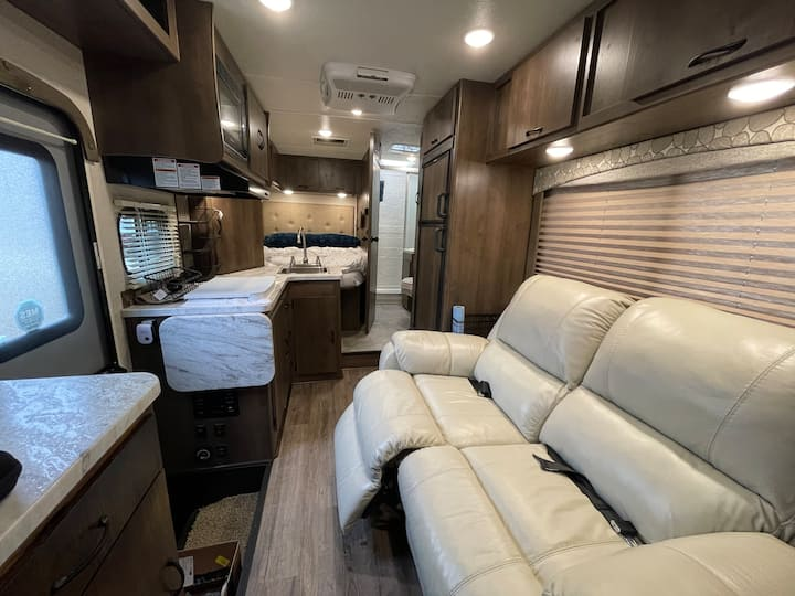 Experience tiny-home living in our 2019 RV!