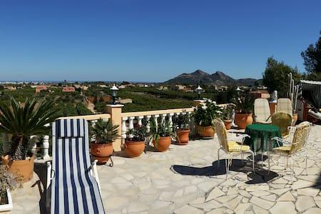 Große Panoramaterrasse mit Pool - Pedreguer - Вилла