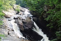 Nearby Auger Falls - easy hike,  quintessential Adirondacks!