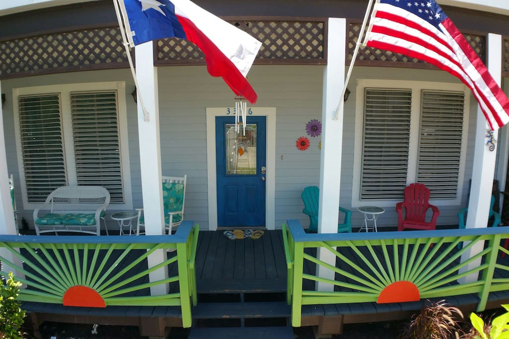 Feel the breeze on the massive front porch