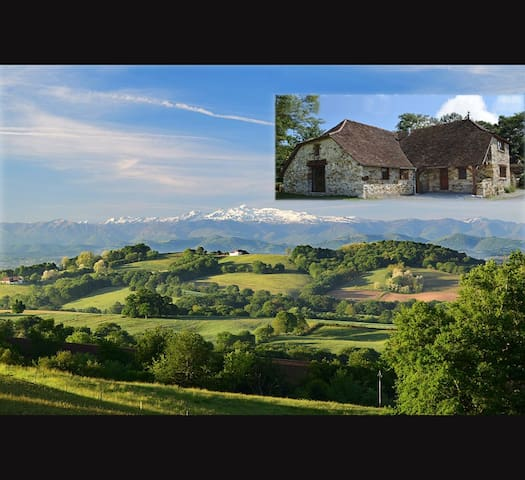 Beautiful house with the best view in France! - Castetbon - Huis