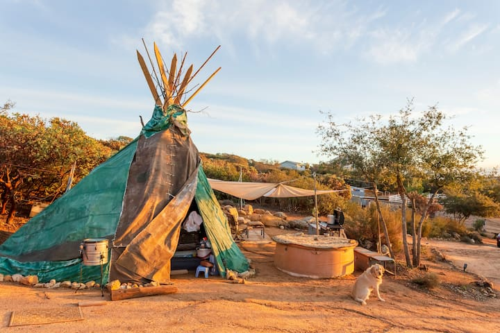 Tipi Glamping with gorgeous views of San Diego
