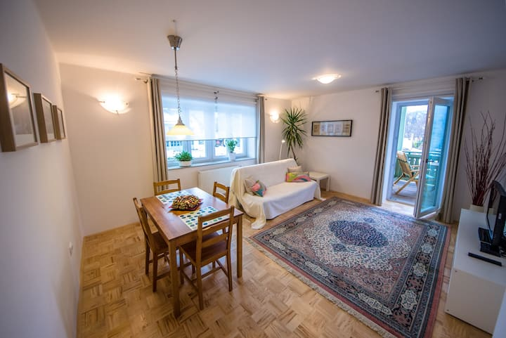 Spacious Green Apartment in a Villa