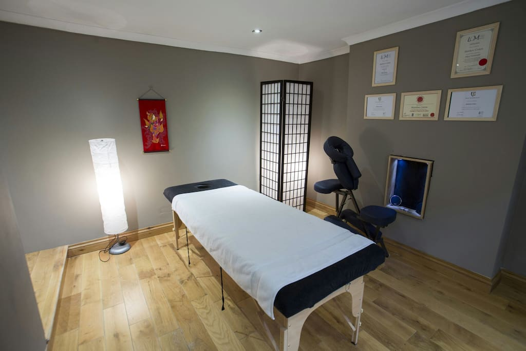 My massage studio, guests get 50% off
