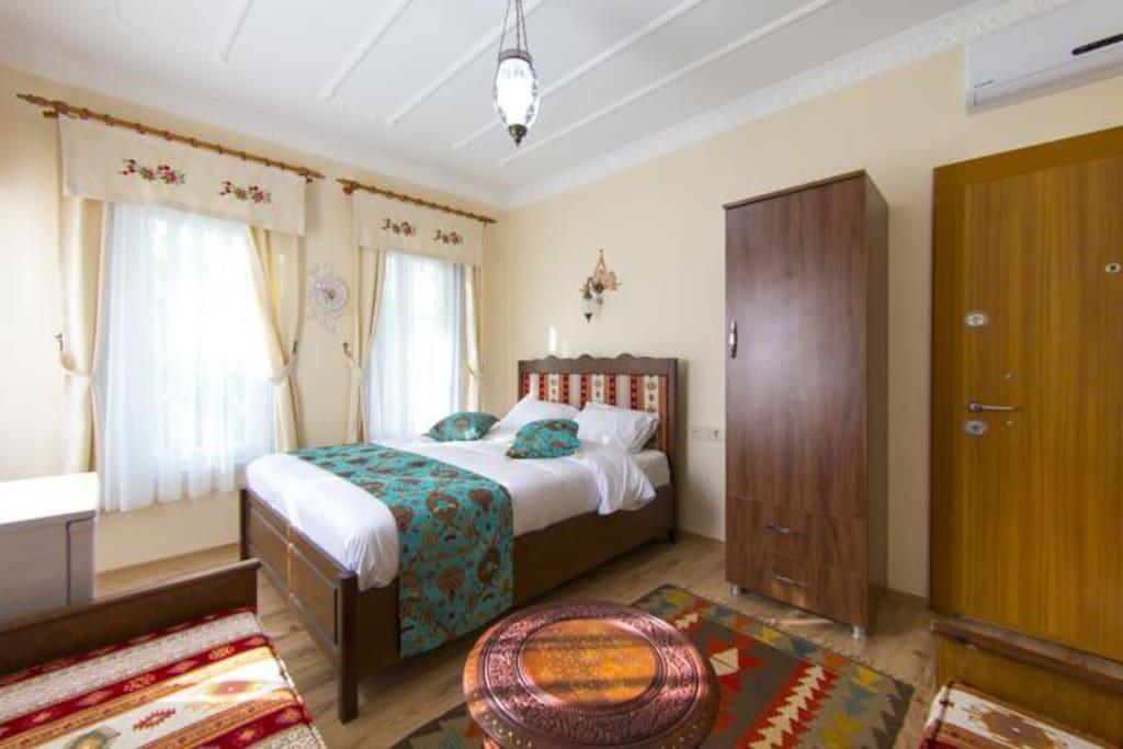 blue apartment 1+1 room