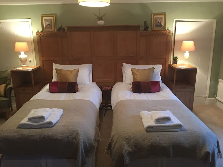 We can make the room up as a twin if required, please ask when booking.
