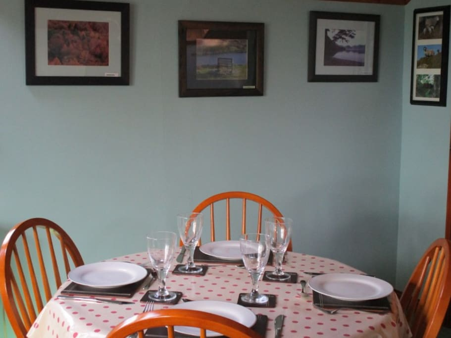 Dine on a large round table surrounded by views from  the Lake District.