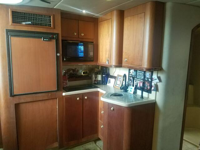 galley  microwave being replaced