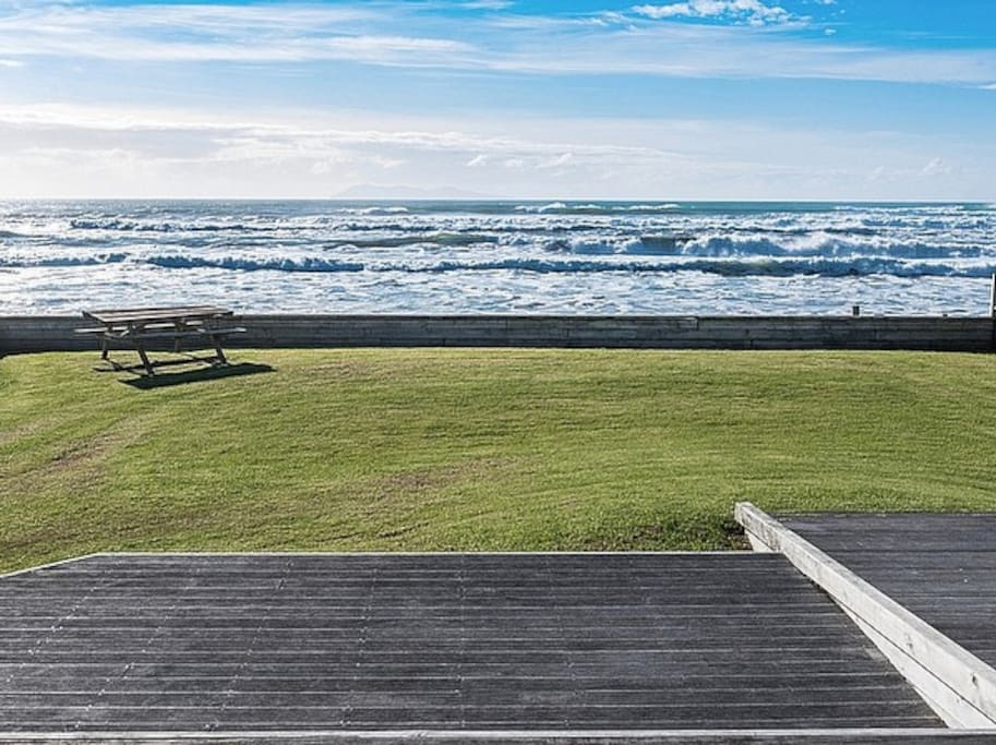 Deck and beach view