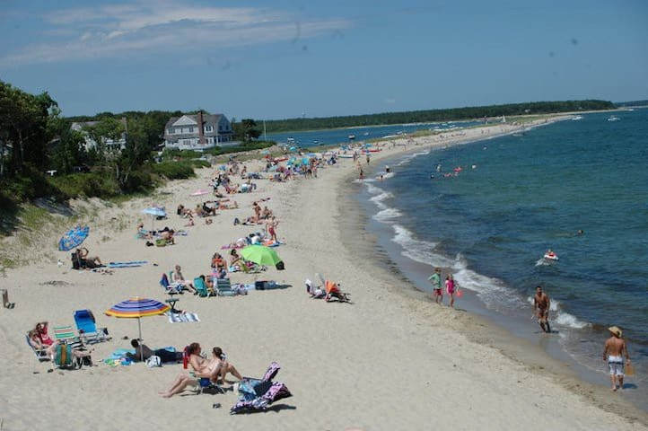Popponesset Beach in Mashpee,  4 blocks to beach