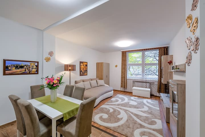 LONG TERM TOO+FREE PARKING+2BD+TERRACCE+CENTER!