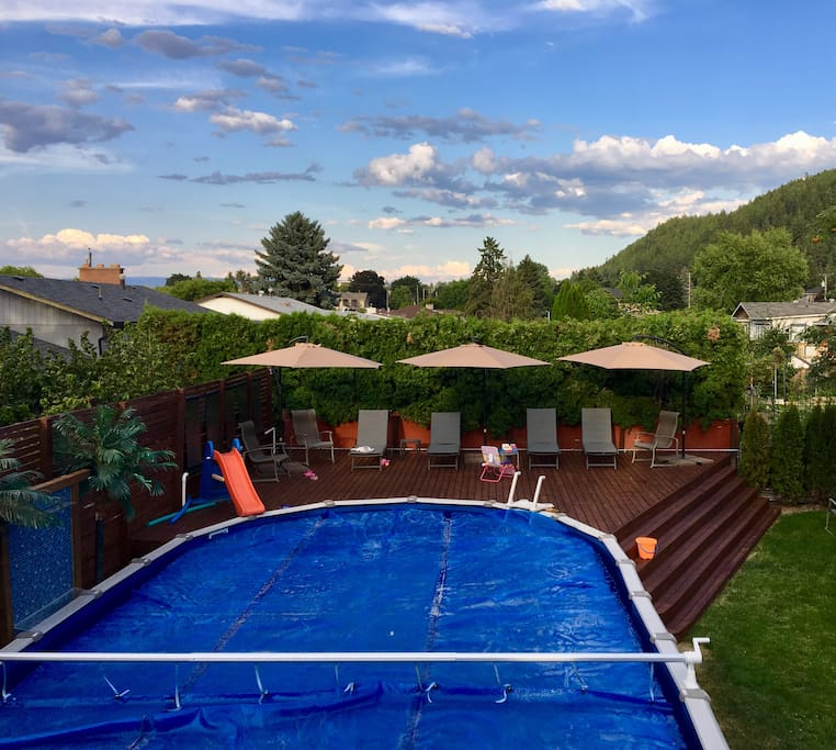 Pool hours 1:00-9:00 p.m. (shared with home owners)