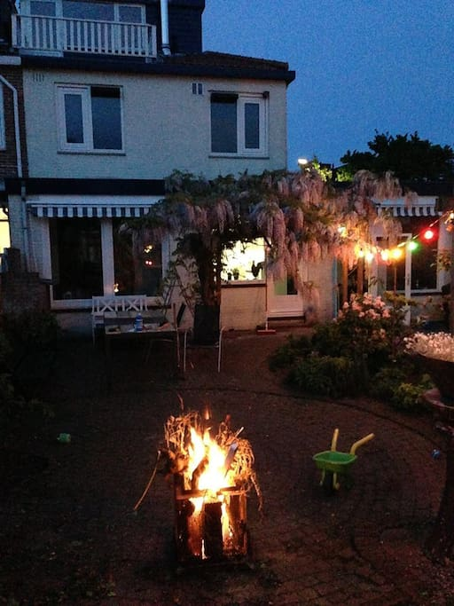 Imagine a lovely evening in our garden with a nice fire.
