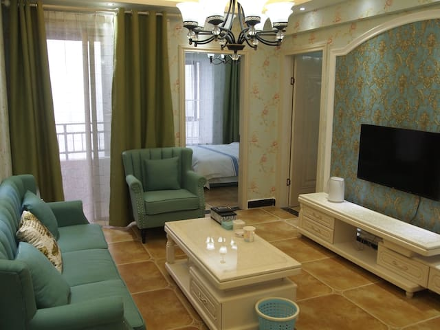 花果园国际中心旁纯地中海风2室 - Guiyang Shi - Huoneisto