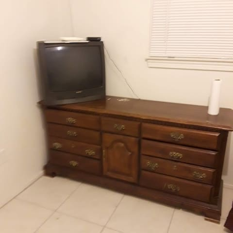 Room includes Cable TV, WiFi, and small refrigerator.
