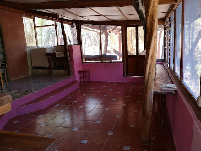 Two bedroom forest house 5 minute walk to beach